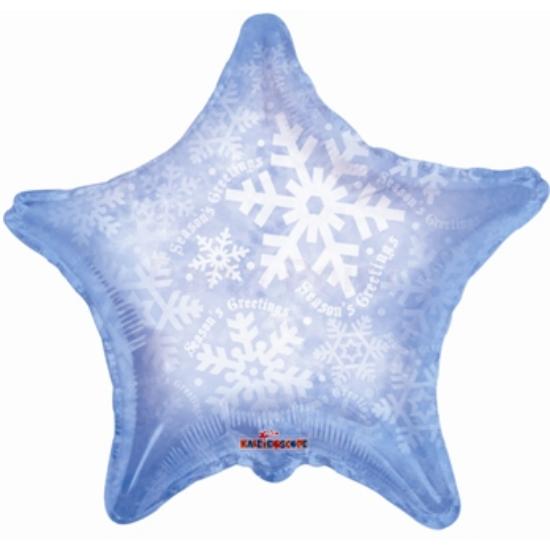 45 cm-es csillag alakú hópelyhes fólia lufi