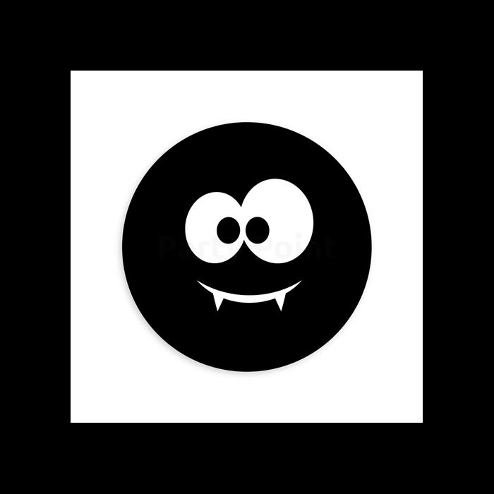 13 cm-es Pókarc fekete gumi léggömb 100 db/cs.
