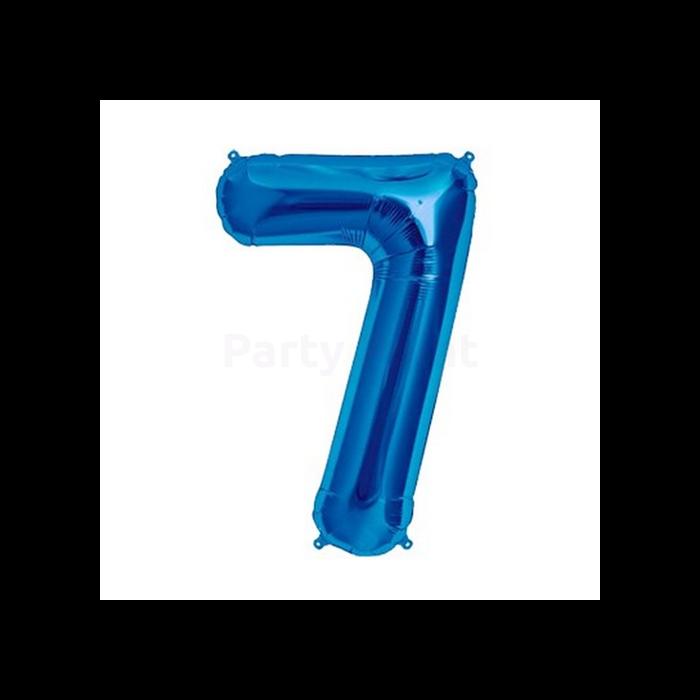 36 cm-es kék 7-es szám fólia lufi