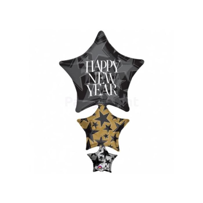 SuperShape -Happy New Year fólia lufi