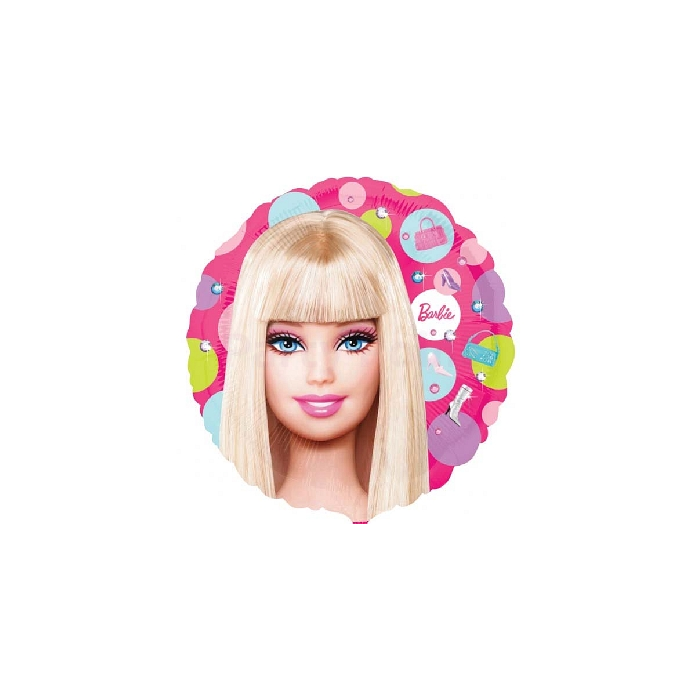 23 cm -es Barbie pöttyös fólia lufi