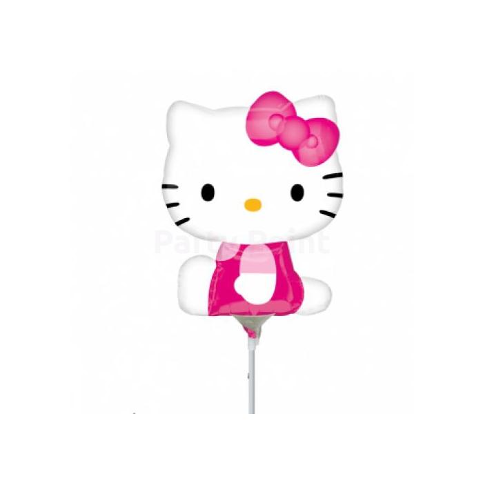Mini -Hello Kitty pink ruhás fólia lufi