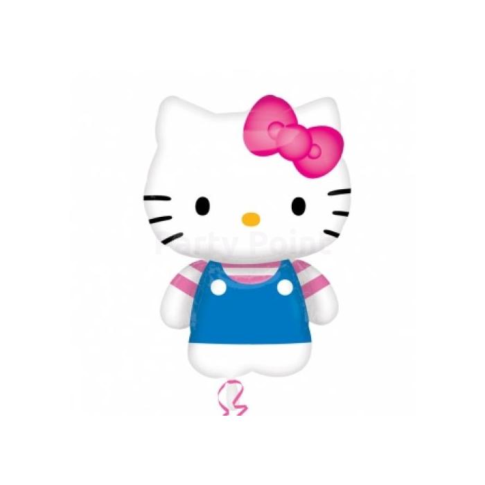 Mini - Hello Kitty kék ruhás fólia lufi
