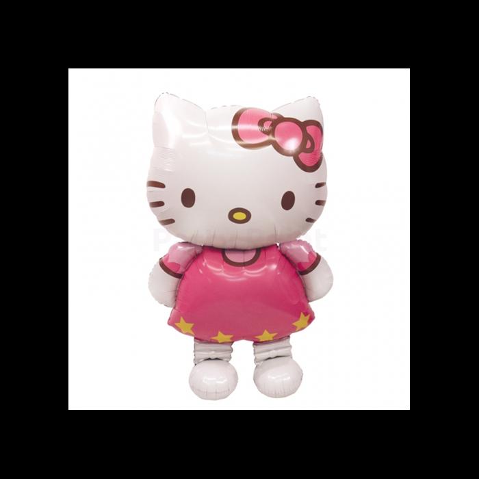 Air-Walker-Sétáló Hello Kitty fólia lufi