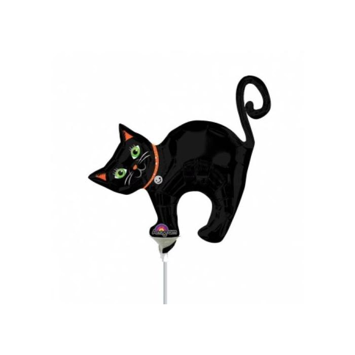 Mini - Fekete macska fólia lufi