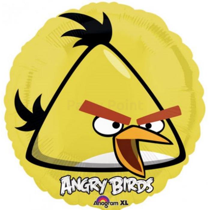45 cm-es Angry Birds sárga madár fólia lufi