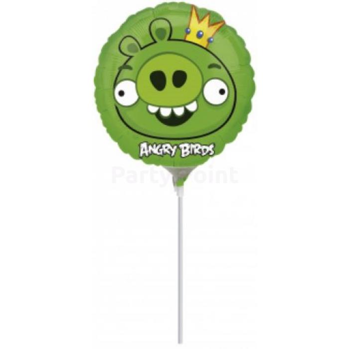 23 cm -es Angry Birds Zöld malac fólia lufi