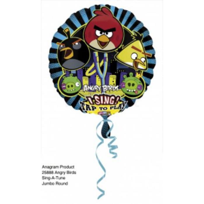 Sing-a-Tune-Zenélő Angry Birds fólia lufi