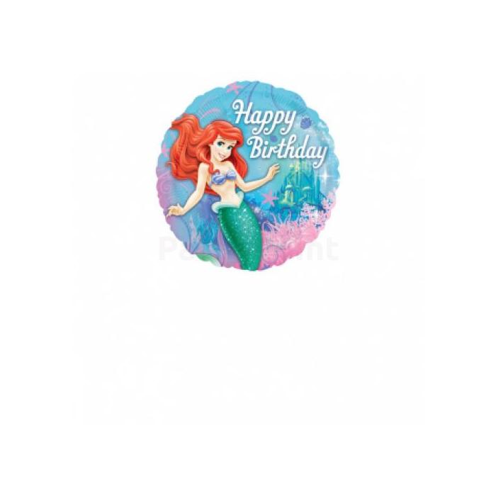 45 cm-es  Ariel  Happy Birthdayfólia lufi