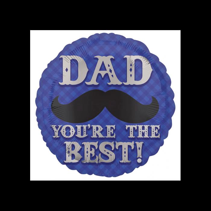 45 cm-es Dad You are the best! fólia lufi