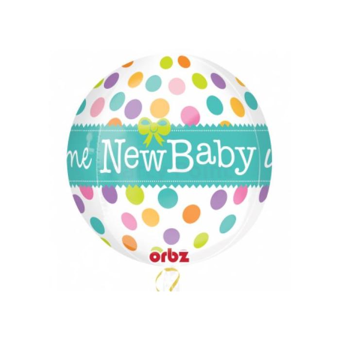 Orbz -New Baby fólia lufi, 40 cm