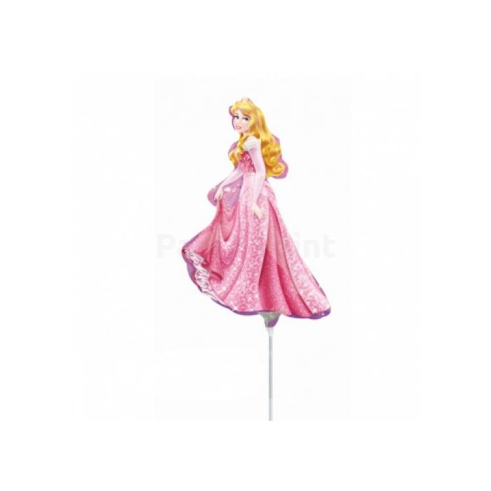 Mini - Hercegnő pink ruhás fólia lufi