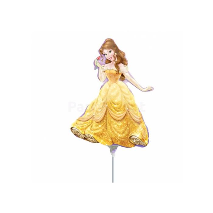 Mini -sárga ruhás hercegnő fólia lufi