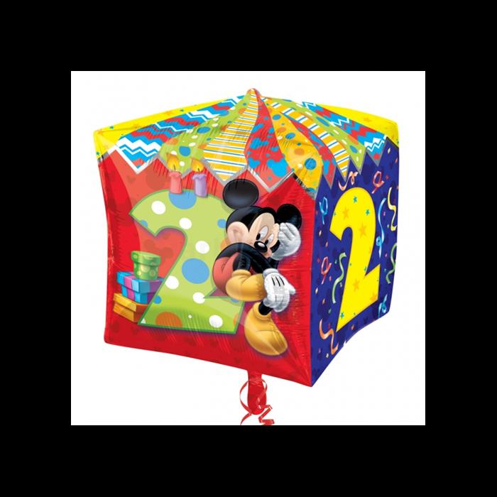 Cubez - Mickey 2nd Birthday fólia lufi, 38 cm