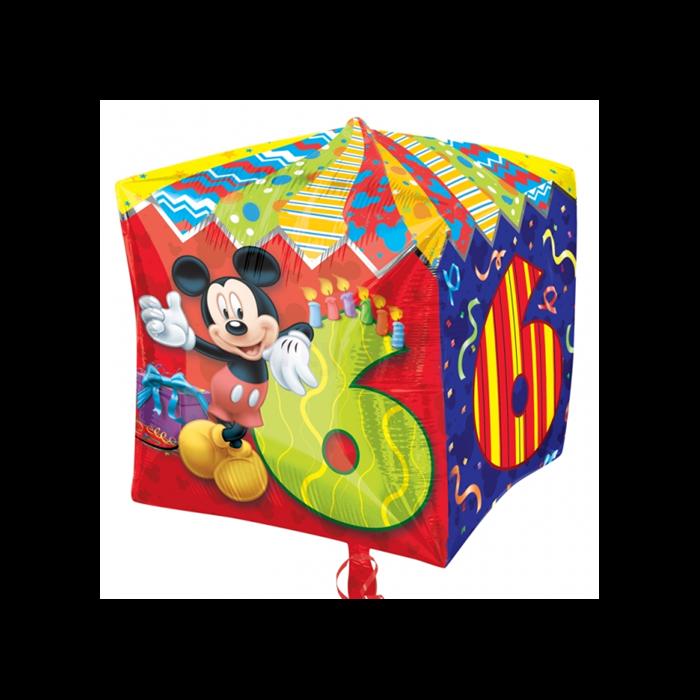 Cubez - Mickey 6th Birthday fólia lufi, 38 cm
