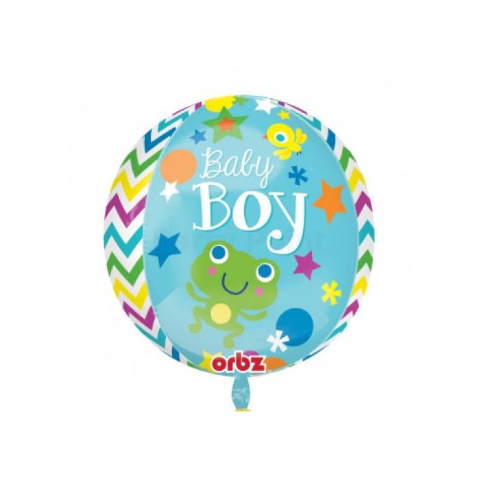Orbz -Baby Boy fólia lufi, 40 cm -es