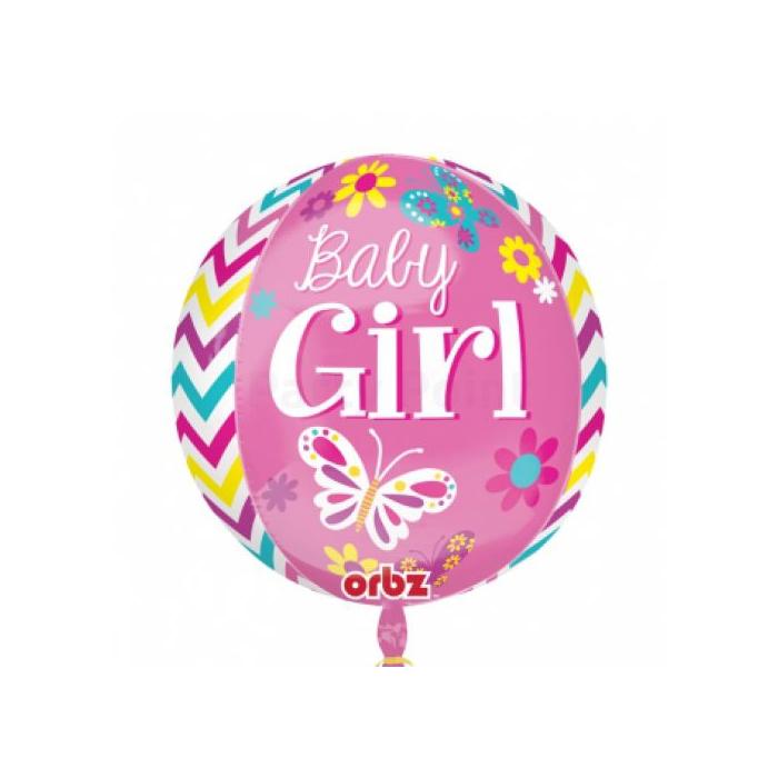 Orbz -Baby Girl fólia lufi, 40 cm -es