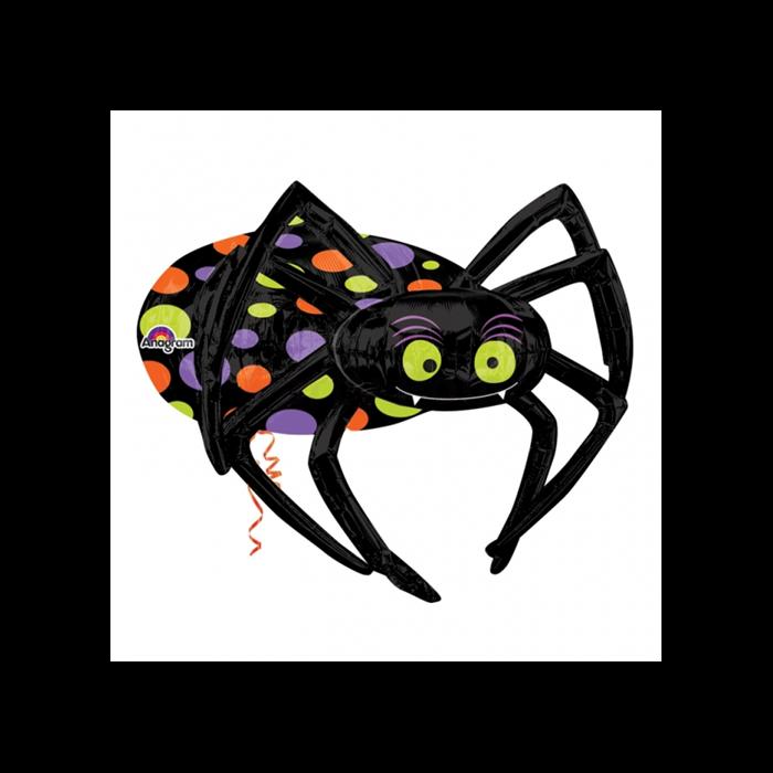 Halloween - Multi-Balloon - Pók alakú fólia lufi