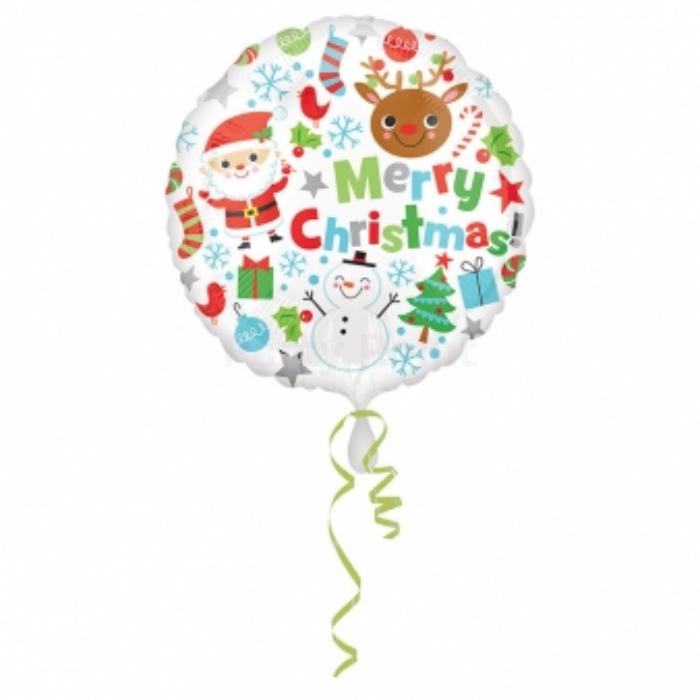 45 cm-es Merry Christmas fólia lufi