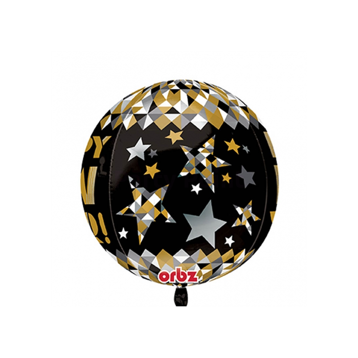 Orbz -Happy New Year fólia lufi, 40 cm