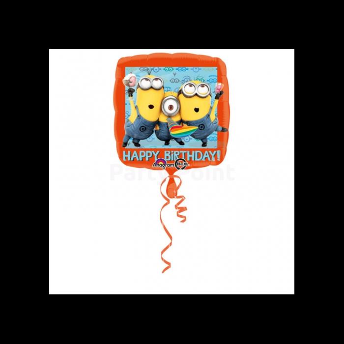 43 cm-es Happy Birthday Minion fólia lufi