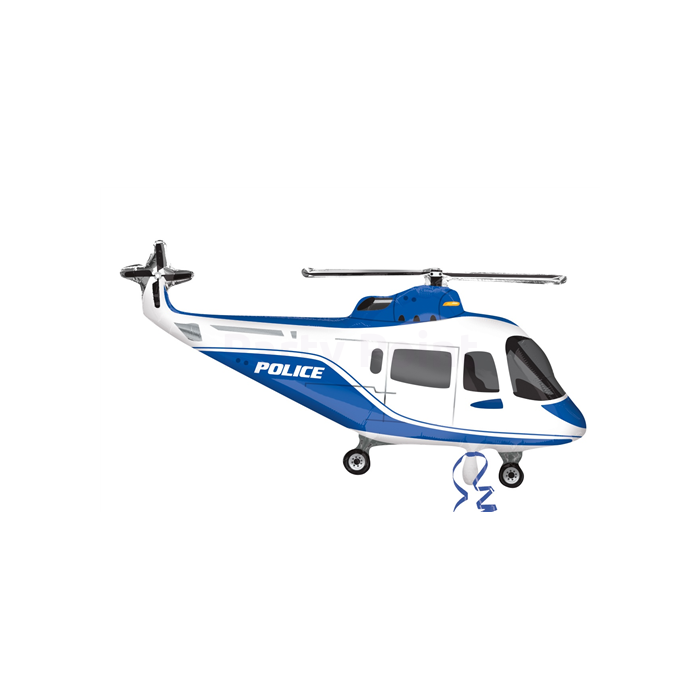 SuperShape - rendőr helikopter fólia lufi AV
