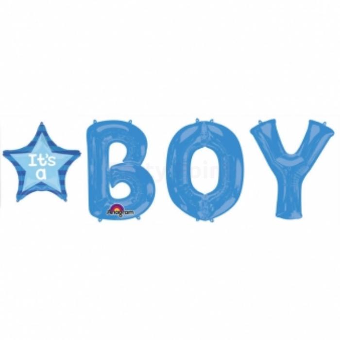 86 cm-es It's a boy kék fólia lufi