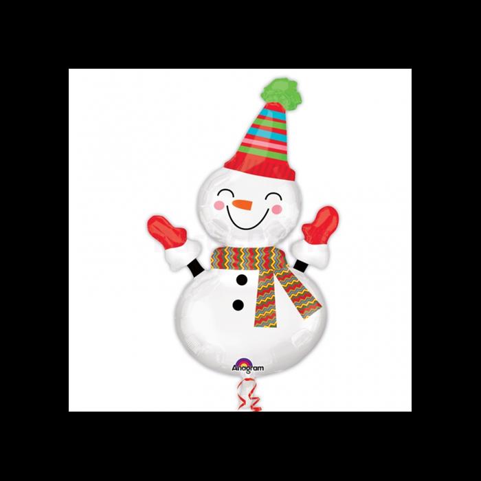 SuperShape -nevető hóember fólia lufi