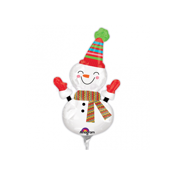 Mini -Nevető hóember fólia lufi