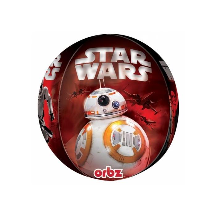 Orbz -Star Wars -Az ébredő erő fólia lufi, 40 cm -es