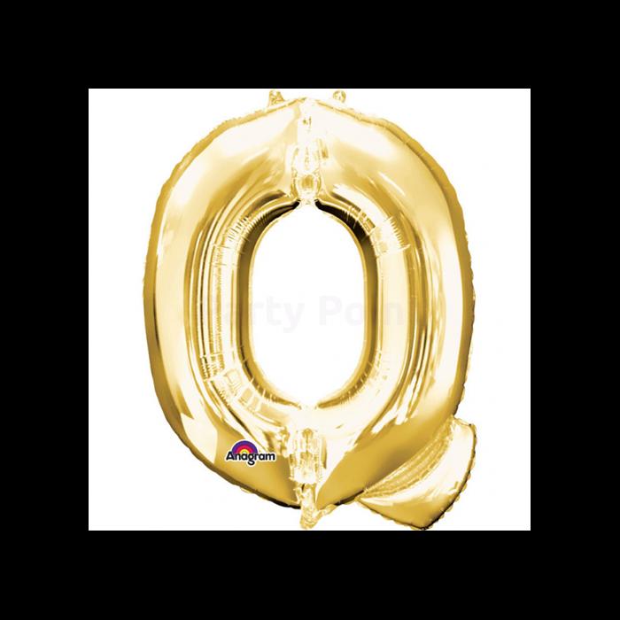 81 cm-es arany színű Q betű fólia lufi
