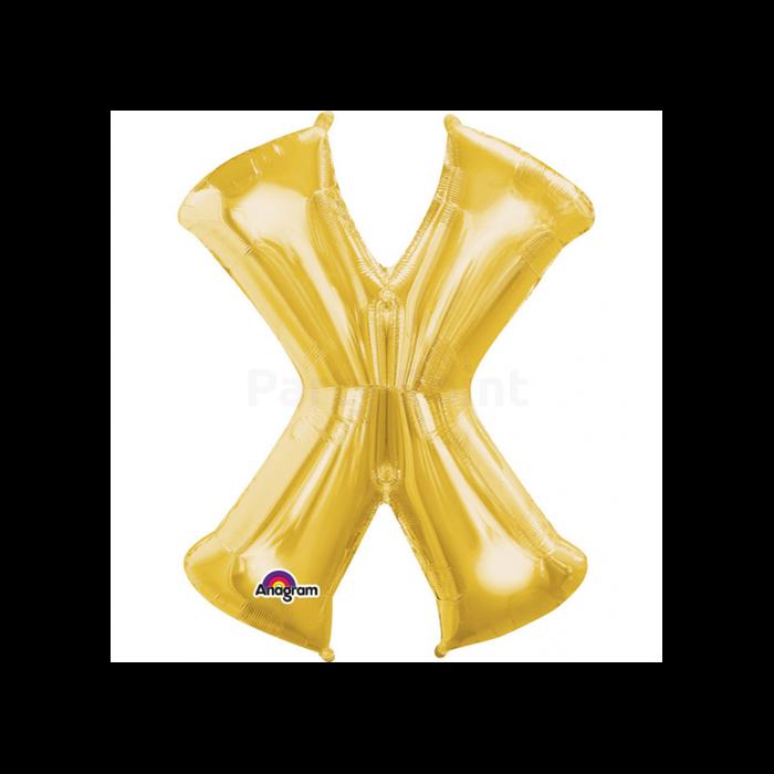 88 cm-es arany színűxbetű fólia lufi