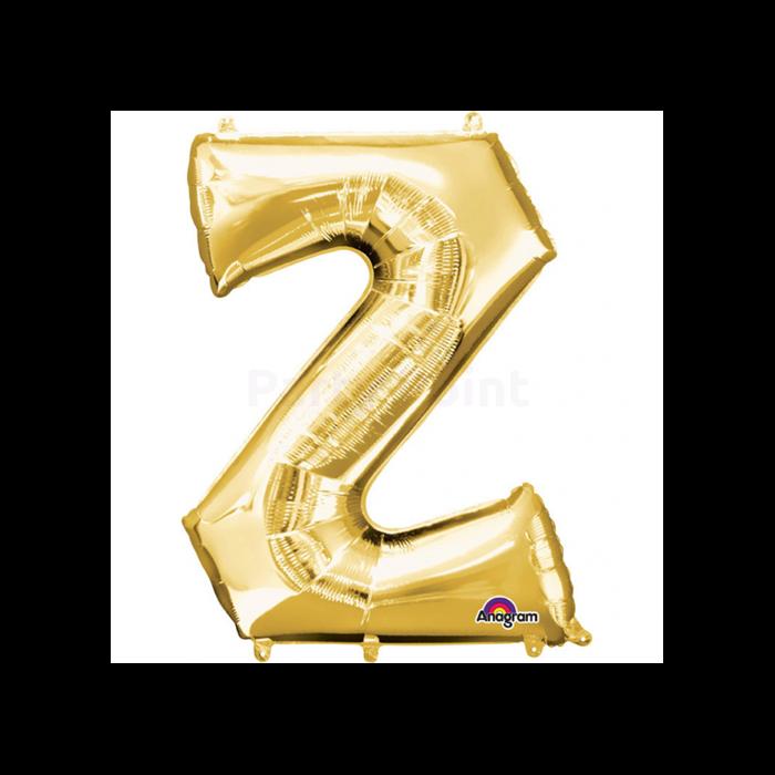 83 cm-es arany színű Z betű fólia lufi