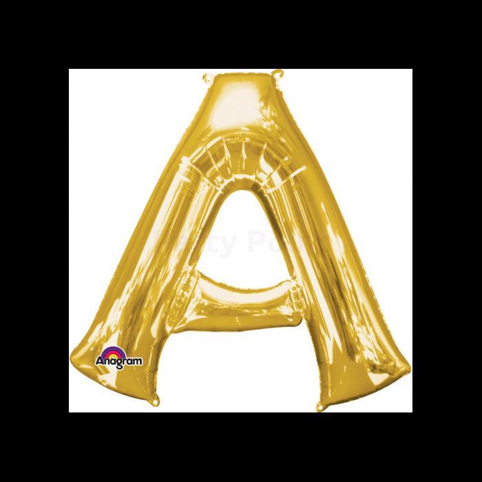 33 cm-es arany színű A betű fólia lufi