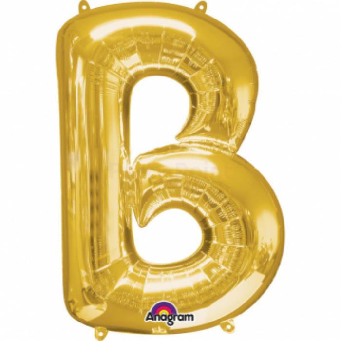 33 cm-es arany színű B betű fólia lufi