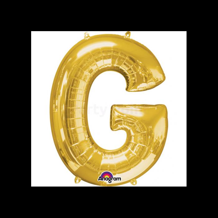 33 cm-es arany színű G betű fólia lufi