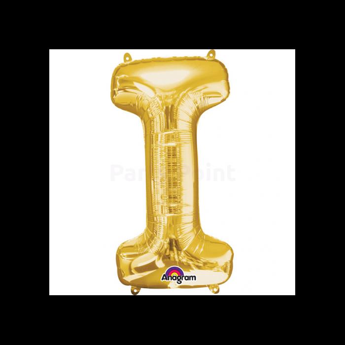 40 cm-es arany I betű fólia lufi