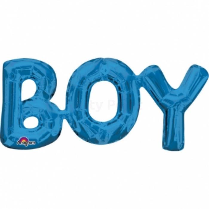 22 cm -es kék Boy betű fólia lufi