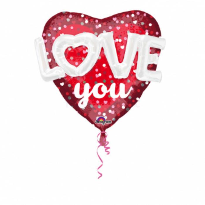 SuperShape - Love you fólia lufi