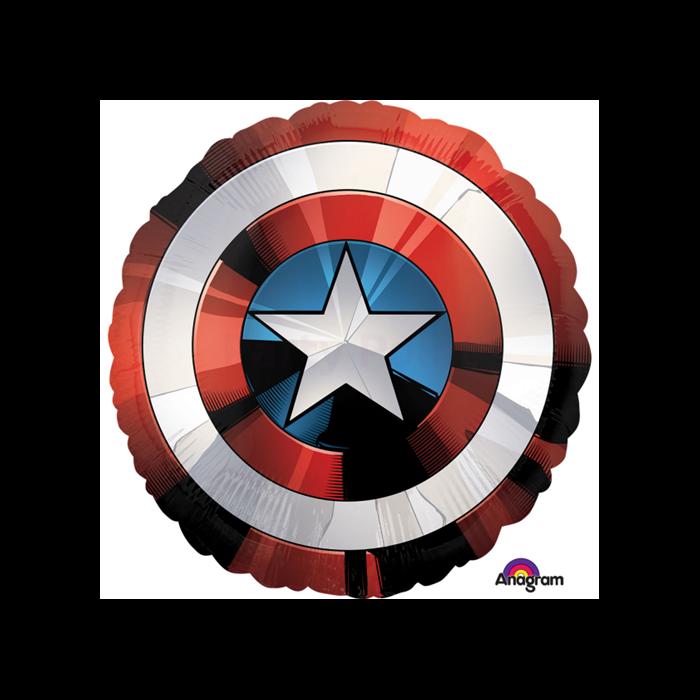 Jumbo -Captain America pajzs fólia lufi, 71 cm