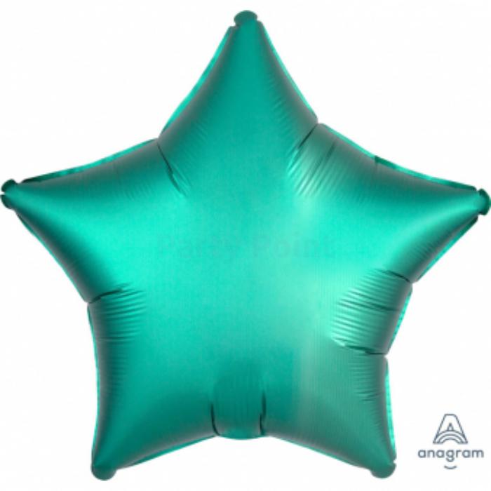 45 cm-es Satin Lux-jade zöld csillag alakú fólia lufi