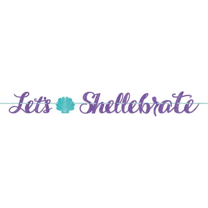 Mermaid Wishes - Let's Shellebrate papírfelirat 365 cm