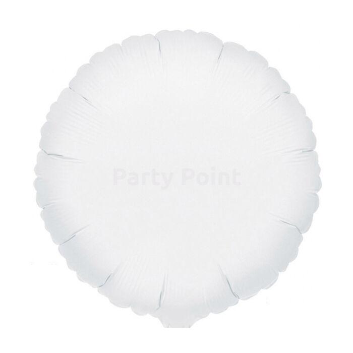45 cm-es Solid Color fehér kerek fólialufi