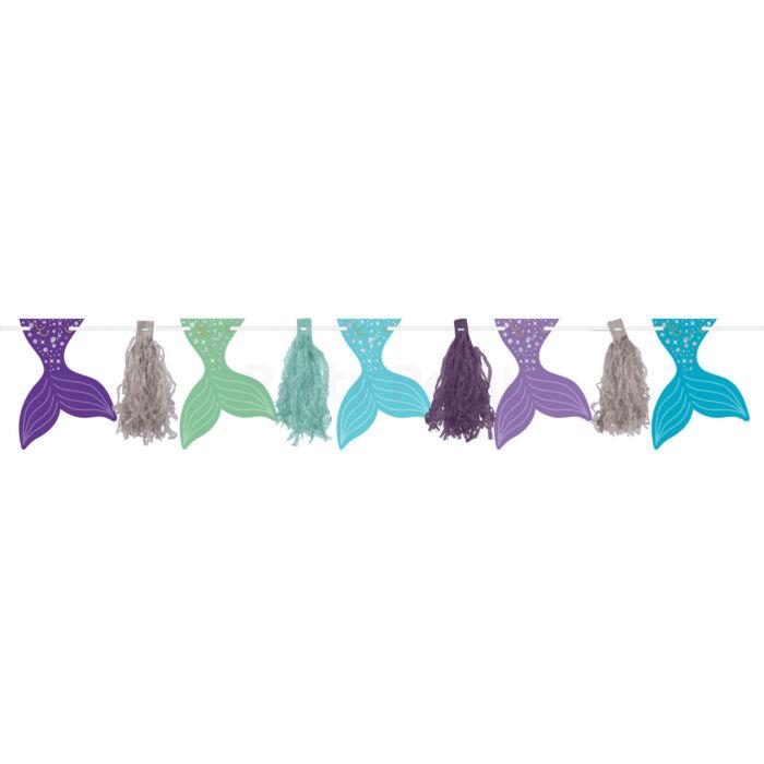 Mermaid Wishes - hableány uszonyos girland 304cm-es