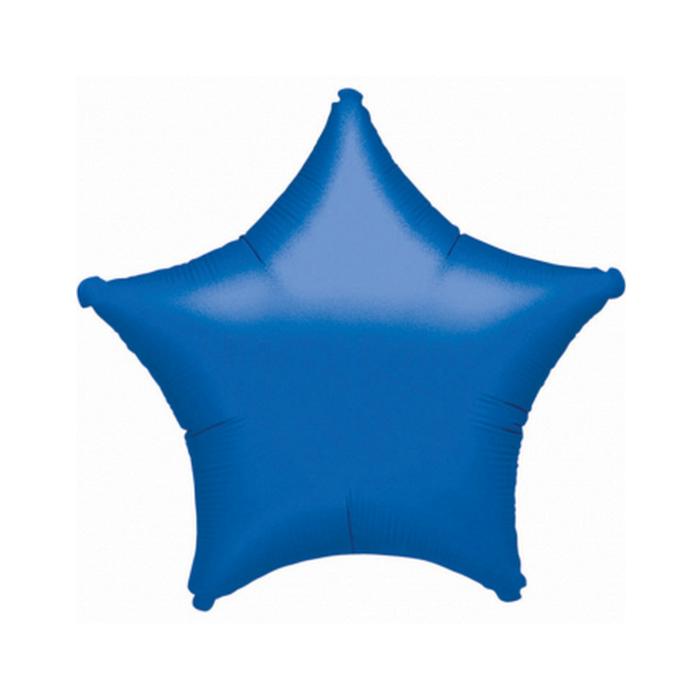 45 cm-es Solid Color kék csillag alakú fólia lufi