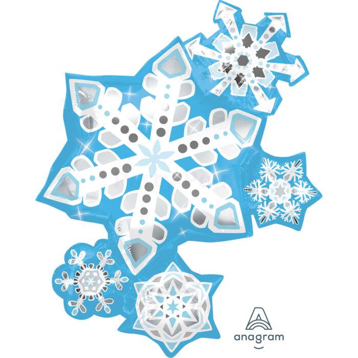 SuperShape - hópehely fólia lufi