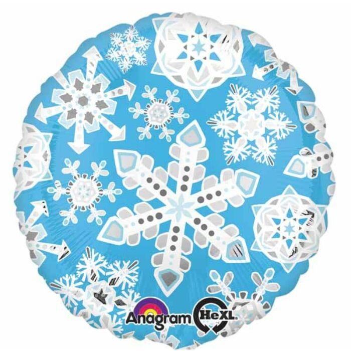 45 cm-es Hópehely kerek fólia lufi