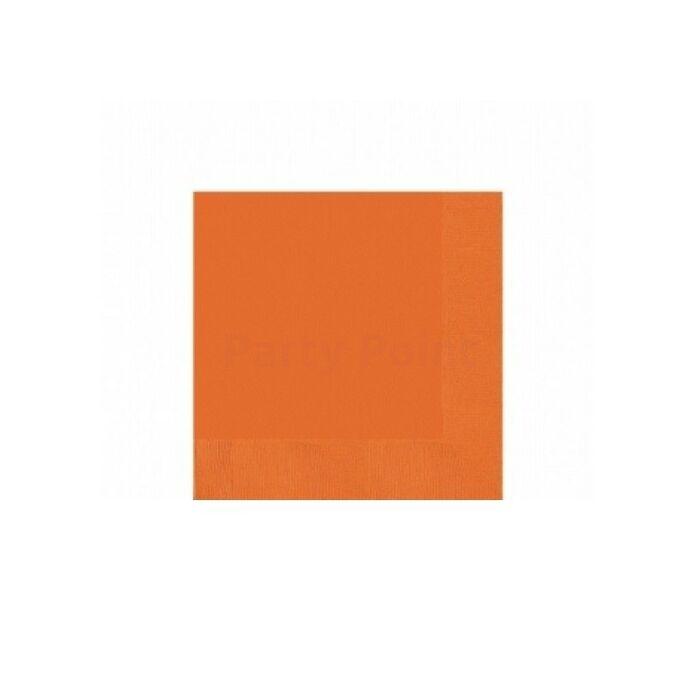Narancssárga koktélszalvéta, 25 x 25 cm - 20 db