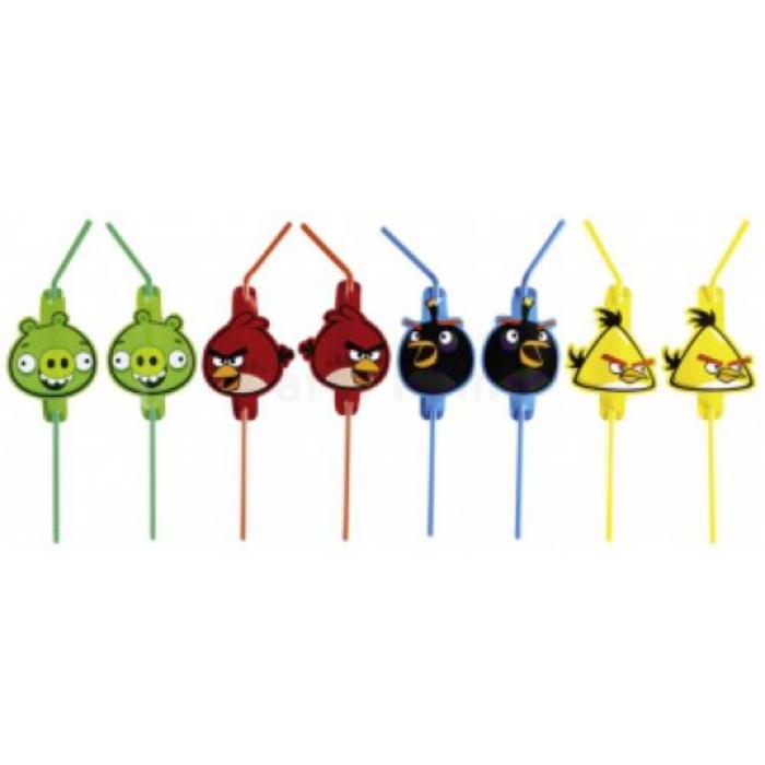Angry Birds szívószál 8 db/cs..