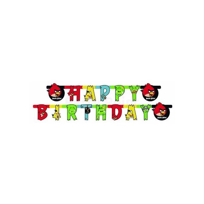 Angry Birds Happy Birthday felirat